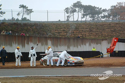 #32 System Force Motorsport Porsche GT3-RS: Peter van Merksteijn, Frans Munsterhuis in trouble