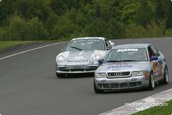 #79 Foxhill Racing Porsche GT3 Cup: Michael Cawley, Andrew Davis, and #04 Istook/Aines Motorsport Group Audi S4: Don Istook, Paul Zube