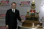 Matt Kenseth poses with the Winston Cup Series Trophy
