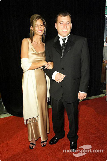 Ryan Newman with fiance Krissie
