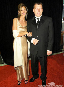 Ryan Newman with fiancée Krissie