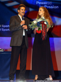 BMW Motorsport party: Barbara Schoeneberger with Dr Mario Theissen