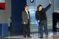 BMW Motorsport party: Dr Mario Theissen with Alex Zanardi