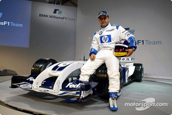 Juan Pablo Montoya with the new WilliamsF1 BMW FW26