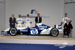 Patrick Head, Juan Pablo Montoya, Marc Gene, Dr Mario Theissen, Ralf Schumacher and Frank Williams