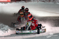 Kart race: Michael Schumacher leads the field