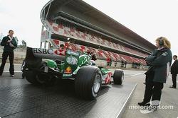 Mark Webber tests the new Jaguar R5