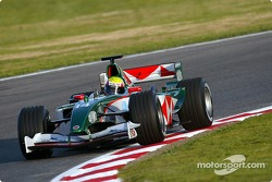 Mark Webber tests the new Jaguar R5