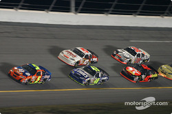 Terry Labonte, Jimmie Johnson, Mike Skinner, Jamie McMurray and Elliott Sadler