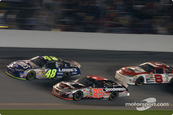 Jimmie Johnson, Kevin Harvick and Dale Earnhardt Jr.