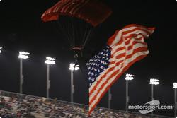 The flag arrives