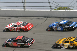 Casey Mears, Kevin Harvick, Mark Martin and Matt Kenseth