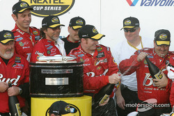 Champagne celebration for Dale Earnhardt Jr.