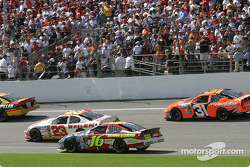 Pace laps: Greg Biffle goes at the back of the grid