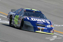 Jimmie Johnson with front end damage