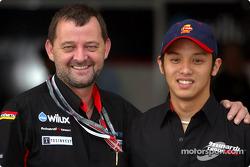Paul Stoddart and a Minardi Team Asia Formula BMW driver