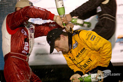 Champagne shower for Max Angelelli