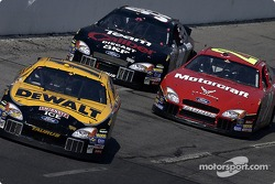 Matt Kenseth, Ricky Rudd and Jeff Burton