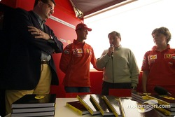Launch of Ferrari official book 'Formula Ferrari': Michael Schumacher and Jean Todt