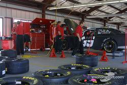 Chip Ganassin Racing garage area