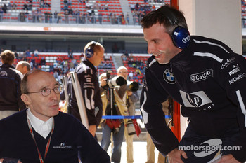 Frank Williams and BMW head of engine testing Matthias Klietz