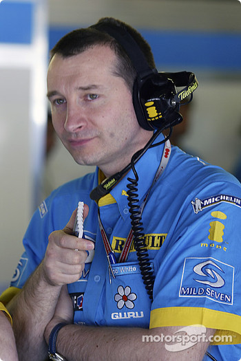 Renault F1 engineer Rob White