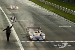 #88 Audi Sport UK Team Veloqx Audi R8: Jamie Davies, Johnny Herbert takes the checkered flag
