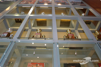 Visit of Hendrick Motorsports: trophies inside the building of #24 and #48 teams