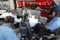 ITV presenter Jim Rosenthal and Tony Jardine