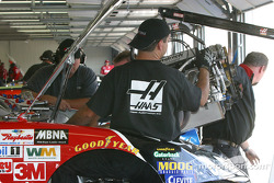 Major engine work on Ward Burton's car