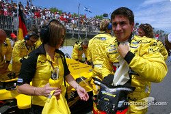Timo Glock on the starting grid
