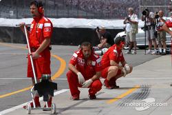 Ferrari pitlane area