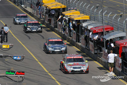 Bernd Schneider leads the field out of the pitlane