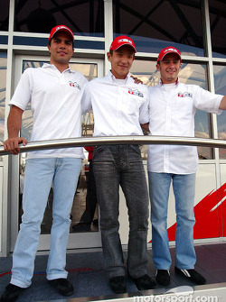 Toyota F3 drivers Roberto Streit, Katsuyuki Hiranaka and Franck Perera