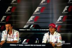 Press conference: Olivier Panis and Cristiano da Matta
