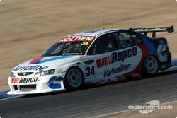 Garth Tander setting his own pass for the 300 km race