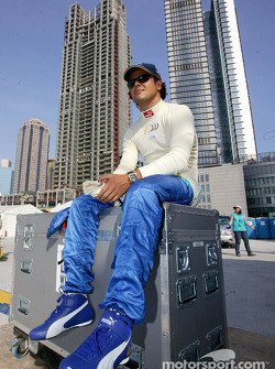 Felipe Massa made a few demonstration laps to promote the China GP