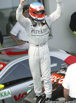 Race winner Gary Paffett celebrates