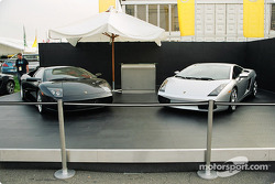 Lamborghinis on display