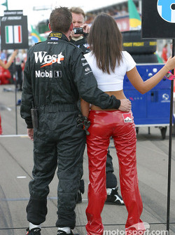 Grid girl attracts attention