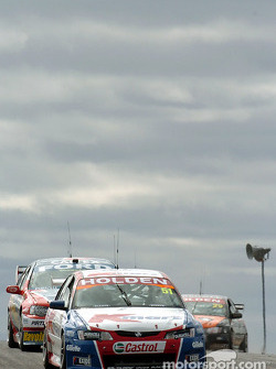 Greg Murphy, Russell Ingall and Paul Morris over the 'flip flop'