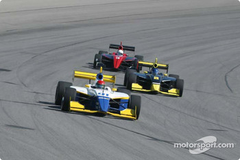 Paul Dana leads Al Unser and Jesse Mason
