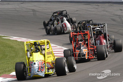 The lead pack in turn three