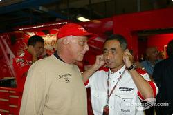 Niki Lauda and Hiroshi Yasukawa