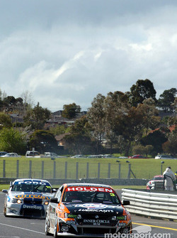 Newcomer Fabian Coulthard is followed by Jason Bargwanna