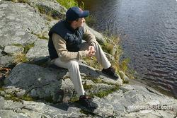 Mattias Ekström relaxes