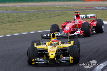 Timo Glock and Michael Schumacher