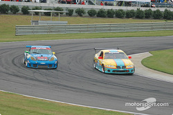 #67 The Racers Group Porsche GT3 RS: Kevin Buckler, Robert Nearn, #23 Horizon Motorsports Pontiac GTO: Charles Espenlaub, Frank Del Vecchio