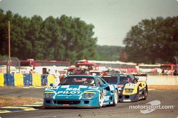 #56 Pilot Pen Racing Ferrari F40 LM: Michel Fert, Olivier Thvenin, Nicolas Leboissetier, #45 Ennea SRL Igol Ferrari F40 GTE: Jean-Marc Gounon, ric Bernard, Paul Belmondo