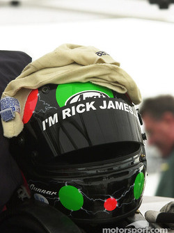 Tribute to the late Rick James on Gunnar Jeannette's helmet